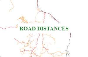 Gazetteer of Guyana Road Distances